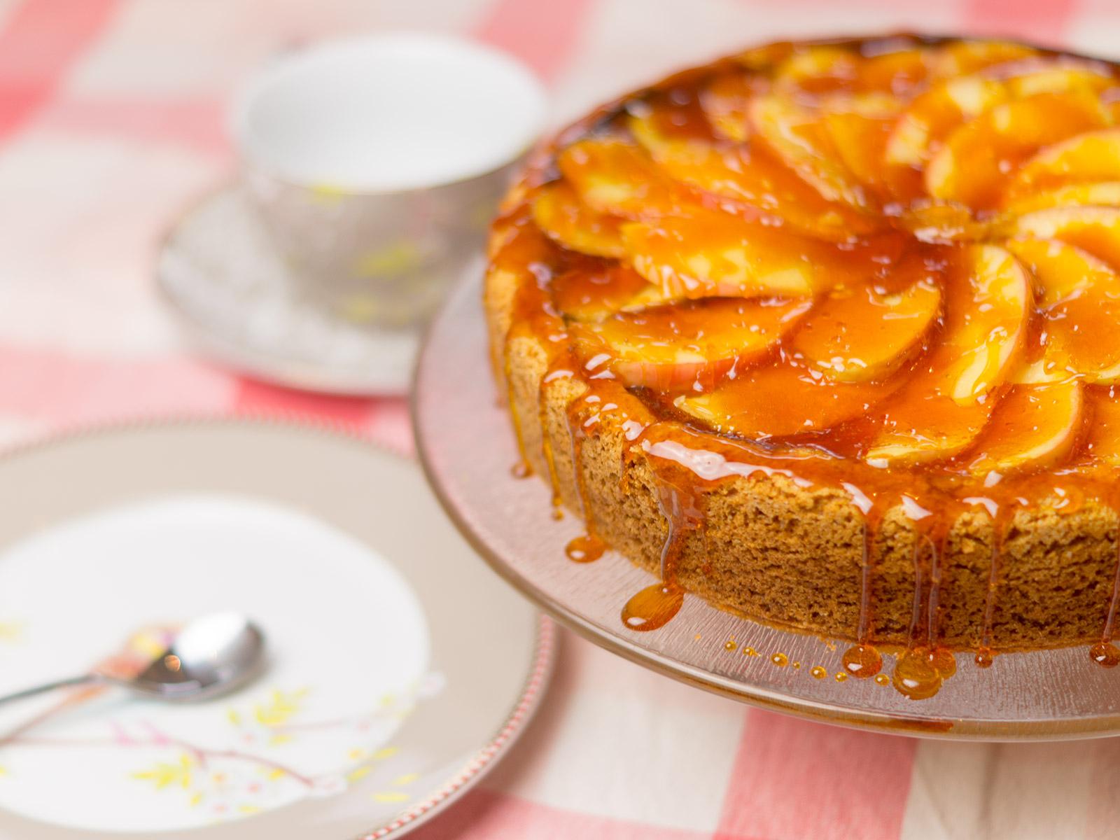 Apfel Karamell Kasekuchen Ruf Lebensmittel