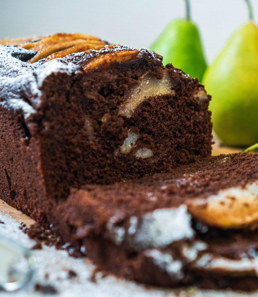Birnen Schoko Kuchen Ruf Lebensmittel