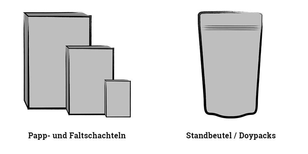 Schachteln und Standbeutel