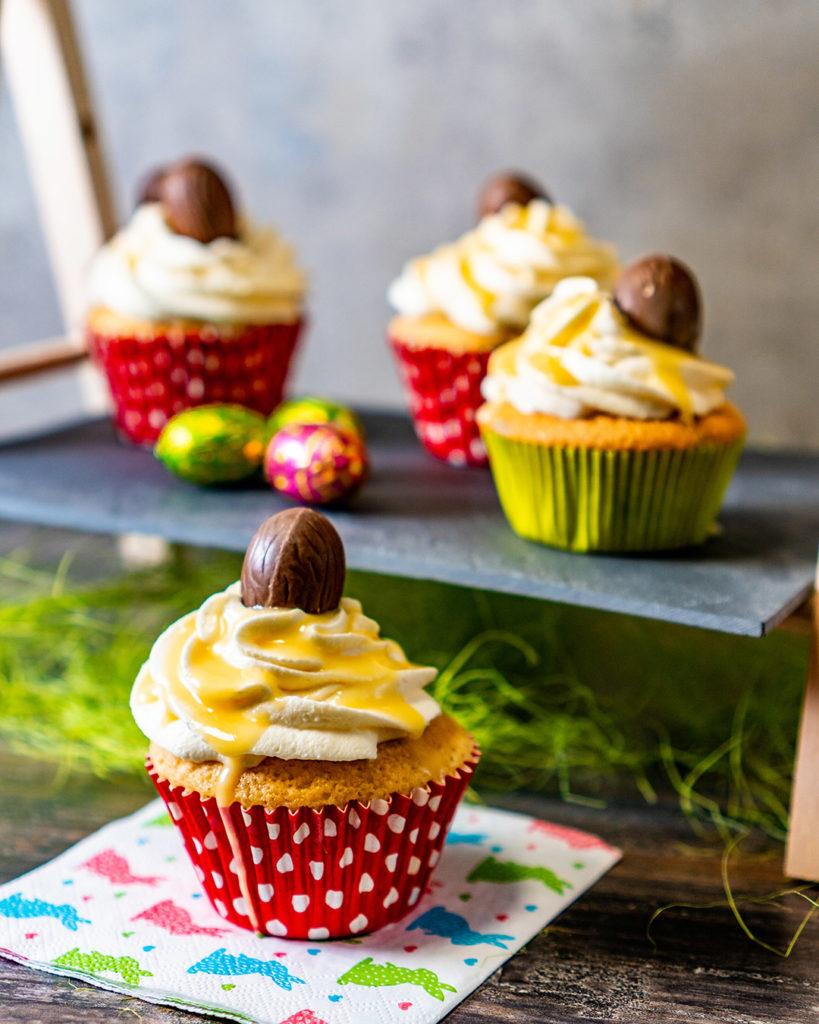 Beschwipste Eierlikör-Cupcakes