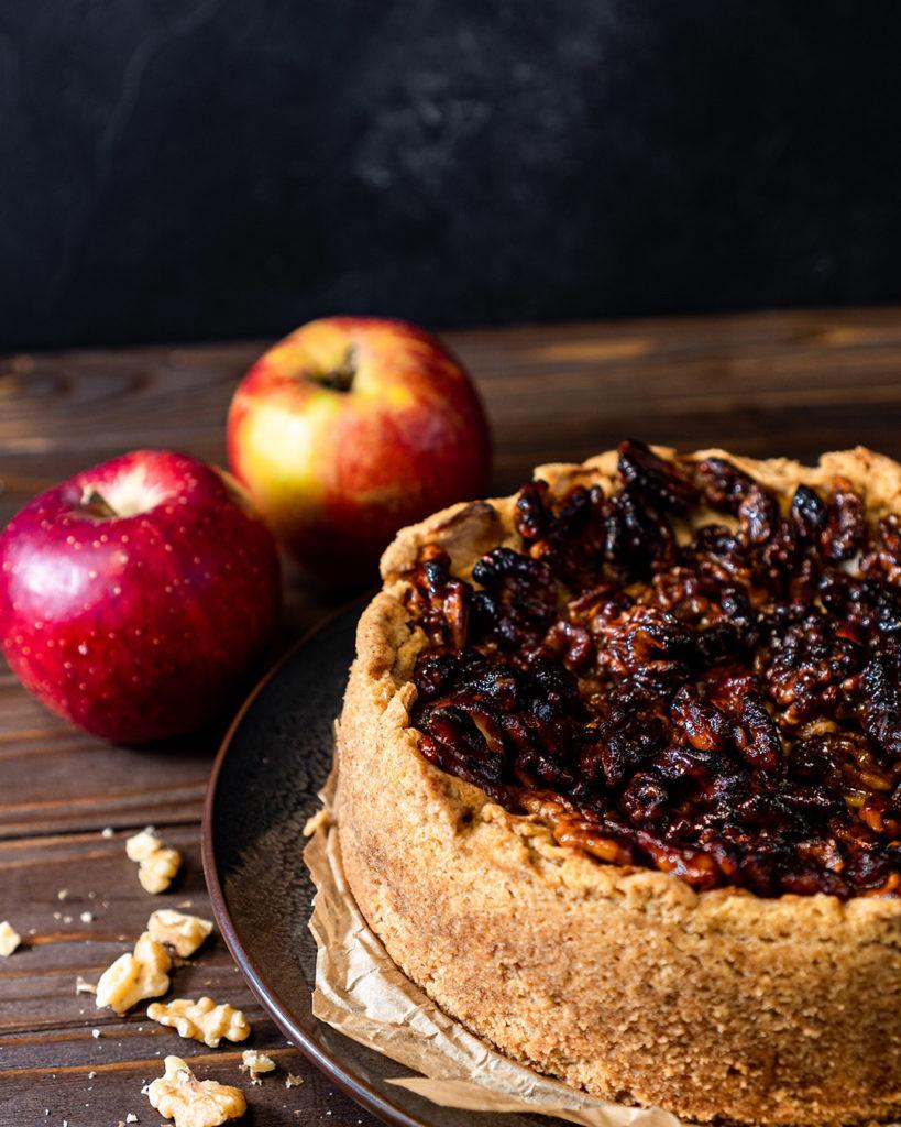Veganer Apfel-Walnusskuchen