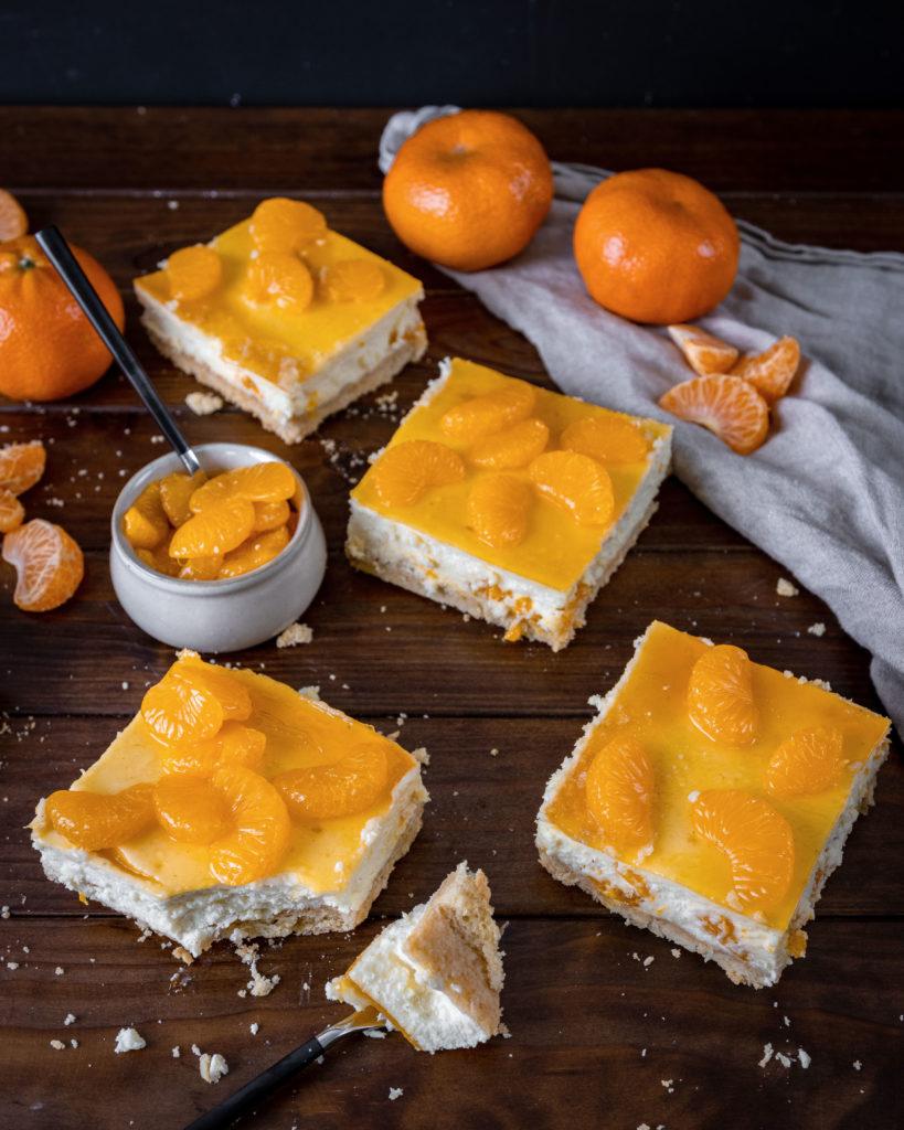 Käsekuchen mit Mandarinen vom Blech Rezept