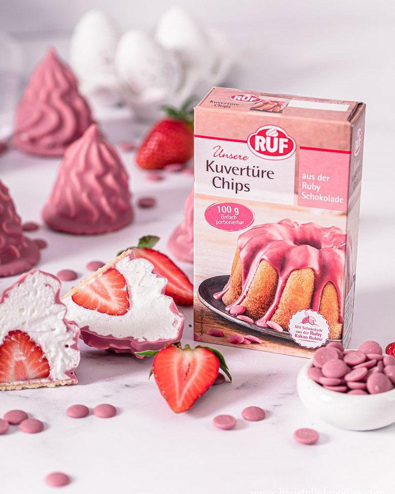 Erdbeer Schaumküsse