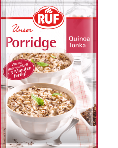 Red quinoa and tonka bean porridge