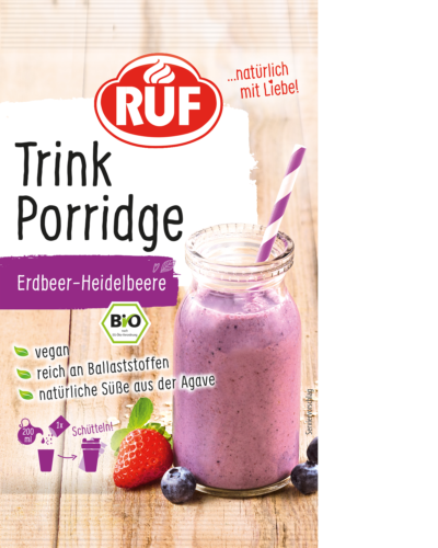 Strawberry-and-blueberry porridge drink